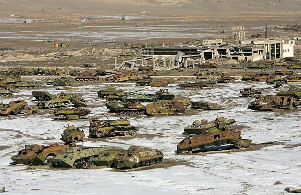 Military Tank Graveyard