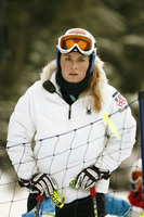 Vonn during course inspection.